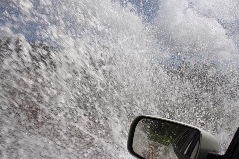 Driving after heavy rains stock images