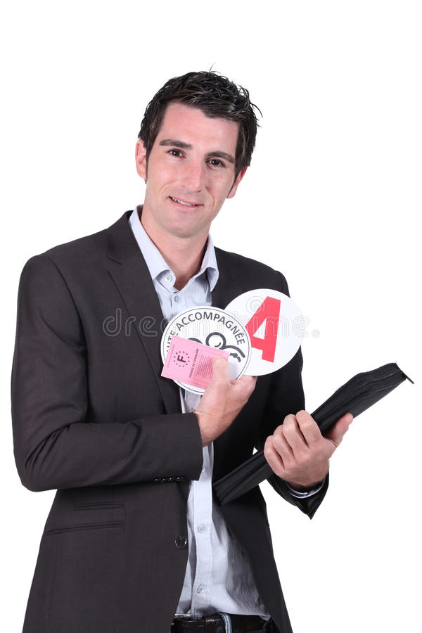 Driving instructor royalty free stock photography