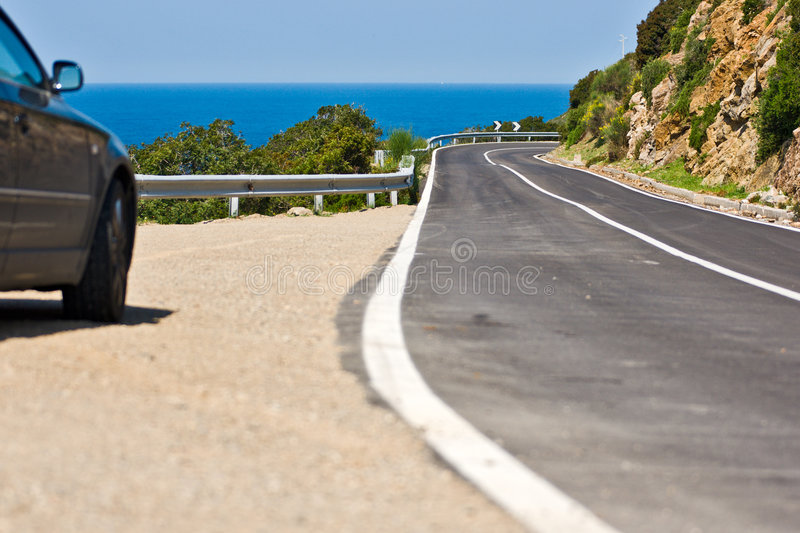 Driving in Isle of Elba, Italy. royalty free stock photography