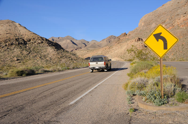 Download Driving Through Lake Mead National Recreation Area Royalty Free Stock Photography - Image: 13896527