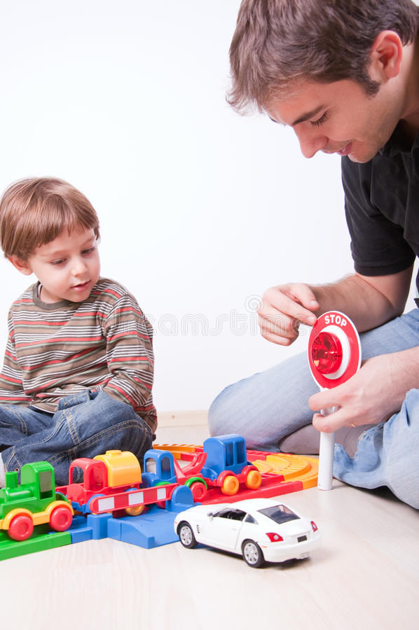 Download Driving Lesson Using Toys And Stop Sign Stock Photo - Image: 12869926