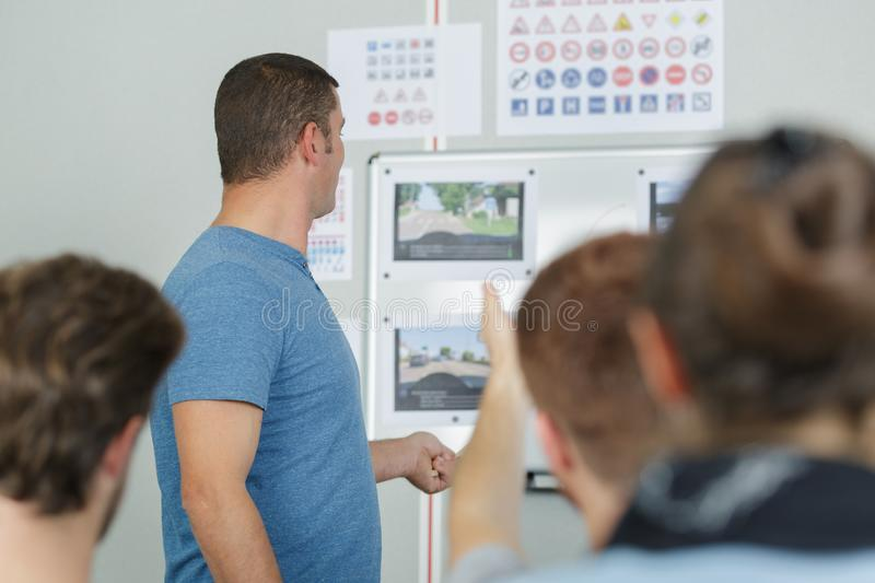 Driving lessons test examination license teaching concept. Driving stock photos