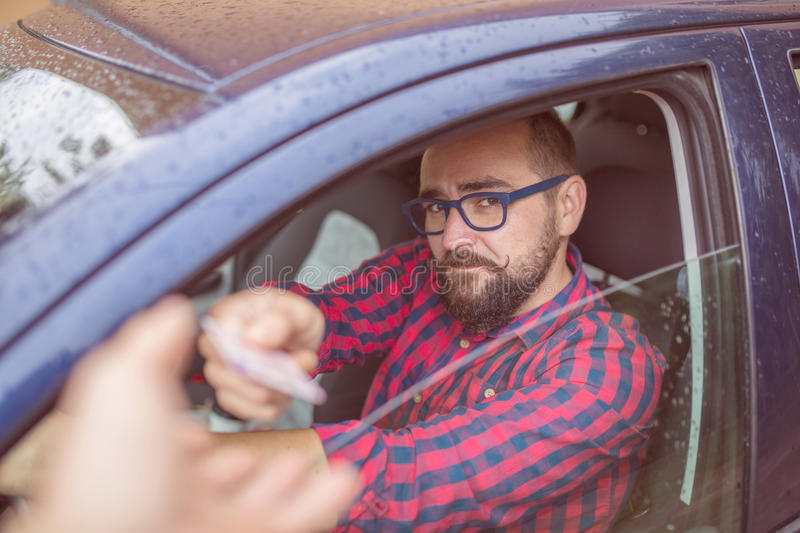 Driving licence verification stock photography