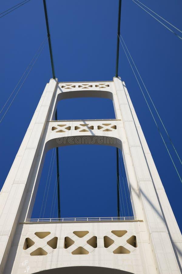 Driving Mackinac Bridge stock photo