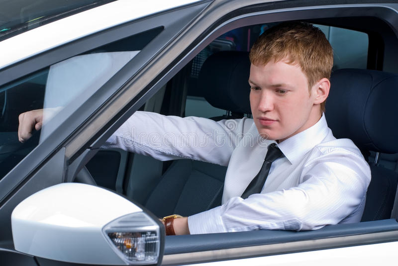 Driving man royalty free stock photography
