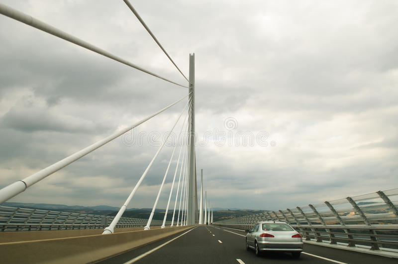 Download Driving the Millau Viaduct editorial stock image. Image of bridge - 15325824