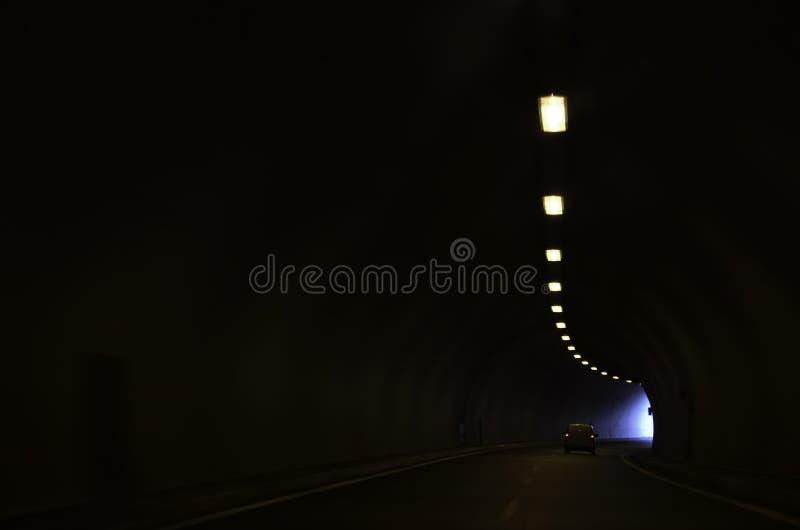 Driving through motorway tunnel royalty free stock photo