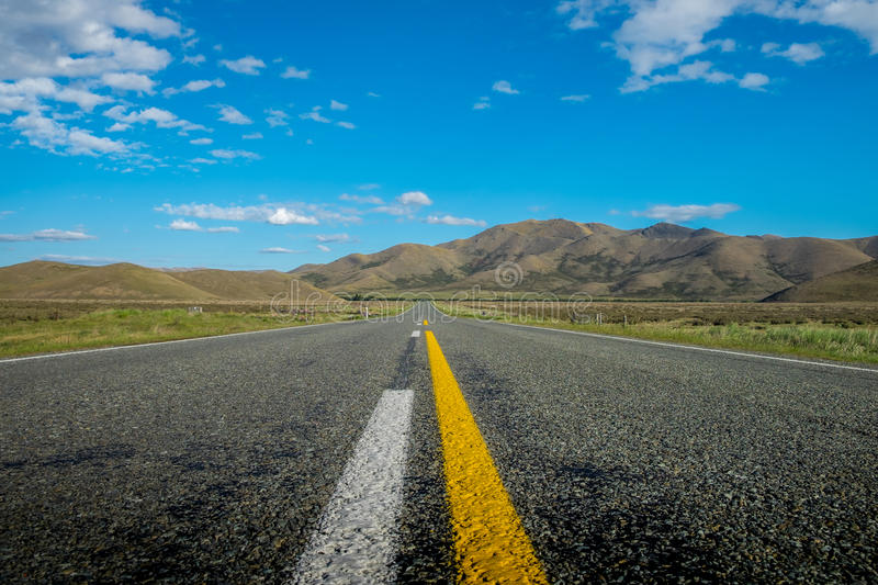 Driving through New Zealand. royalty free stock photo