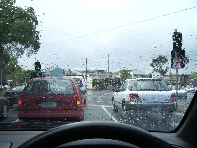 Download Driving In The Rain Royalty Free Stock Images - Image: 82319