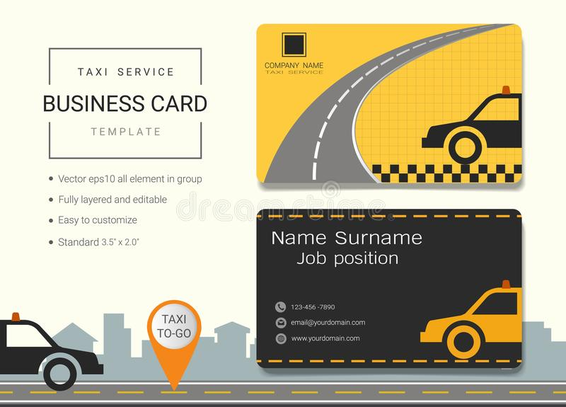 Driving school business card or name card template. Driving school business card or name card template, Simple style also modern and elegant with car drive and vector illustration
