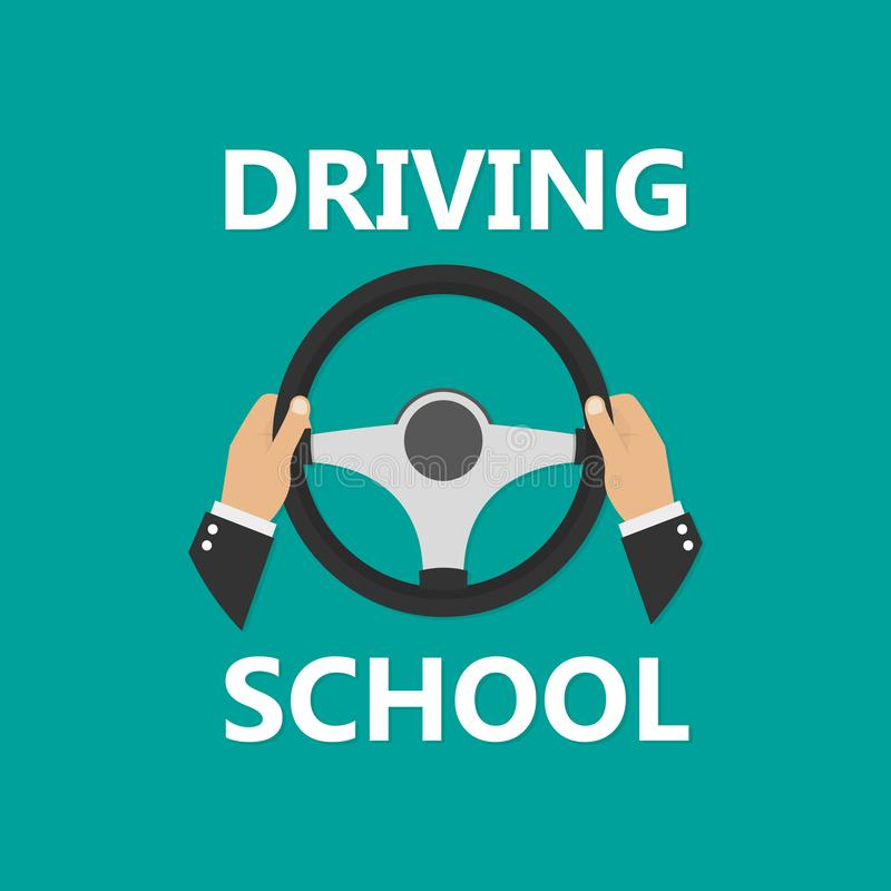 Driving school logo template royalty free illustration