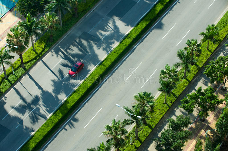 Driving on street road royalty free stock photography