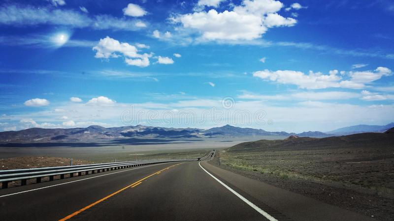 Driving to Las Vegas royalty free stock image