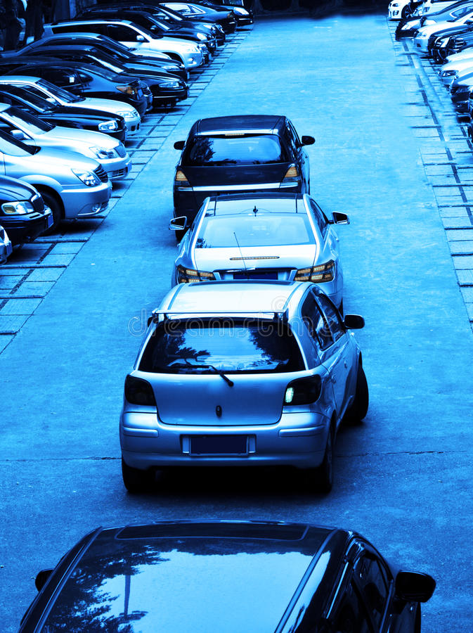 Driving To Parking Royalty Free Stock Photo