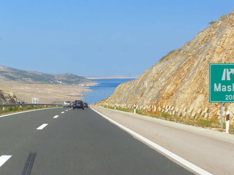 Download Driving towards sea stock photo. Image of croatia, travel - 6631050
