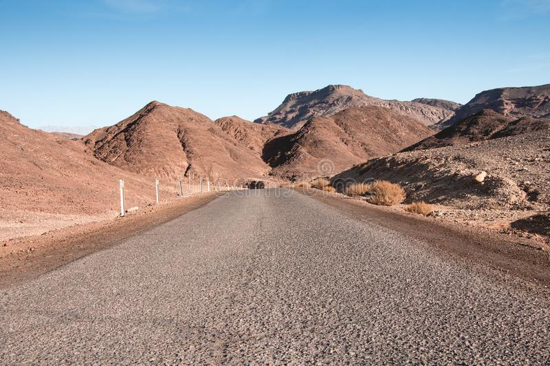 Driving trought Timna Park,. Negev desert, near Eilat. Concept of freedom, happiness and exploring stock photos