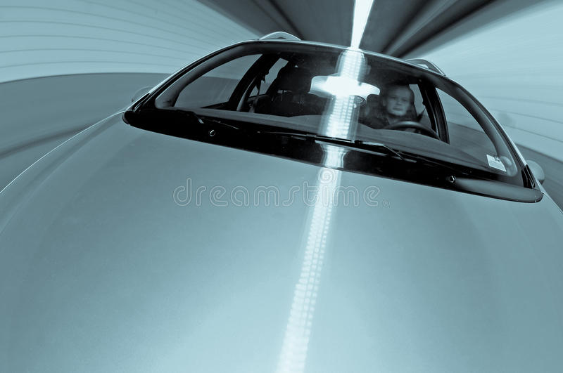 Download Driving in a Tunnel stock image. Image of dynamic, driver - 24872771