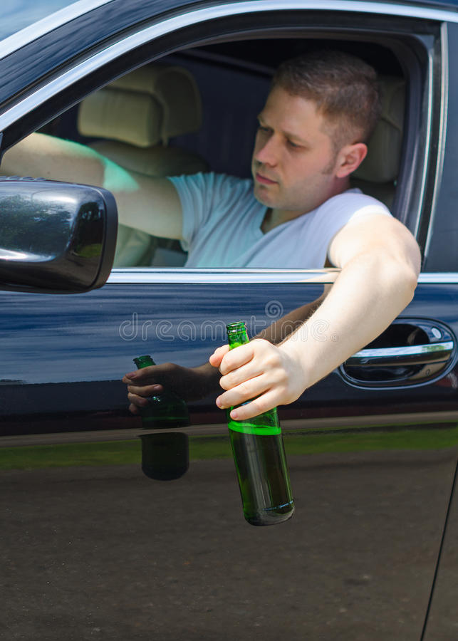 Driving Under the Influence. royalty free stock image