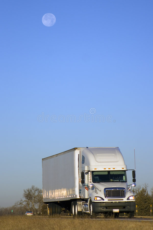 Download Driving Under The Moon Royalty Free Stock Image - Image: 3802366