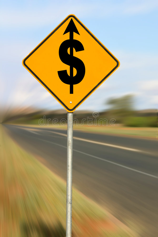 Driving Up Costs stock image