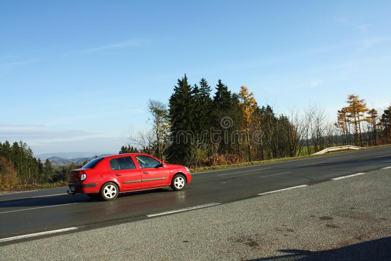 Download Driving up the hill stock image. Image of autumn, hill - 16821071