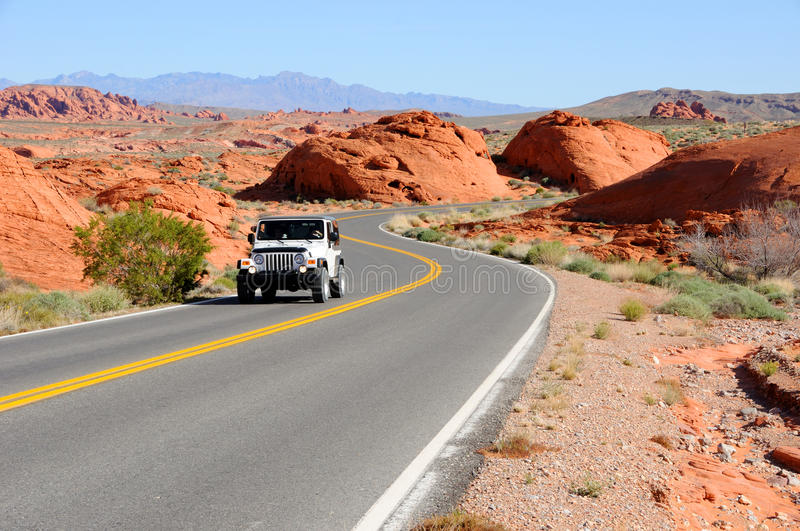 Download Driving Through Valley Of Fire State Park Stock Image - Image: 13896649