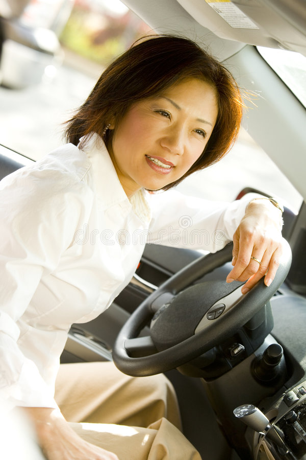 Download Driving Woman stock photo. Image of smart, back, driver - 5621206