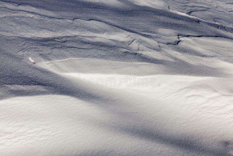 drivor efter snöfall arkivbild