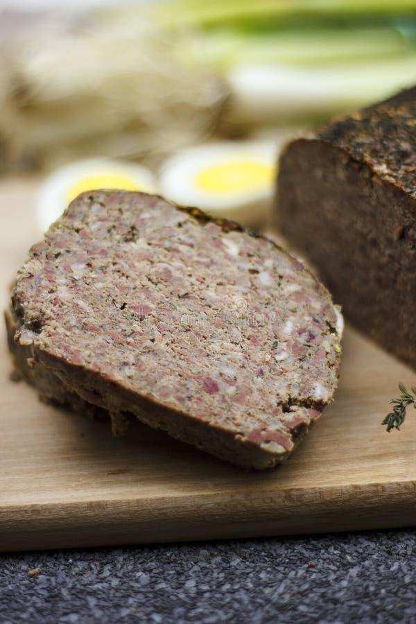 Drob - Rumuński Wielkanocny karmowy zbliżenie zdjęcie stock