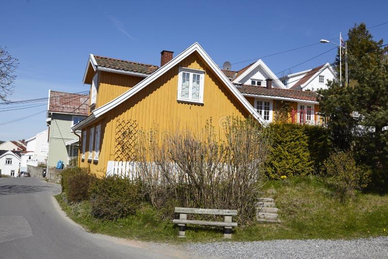 Drobak Akershus, Noruega - casas residenciales imagen de archivo