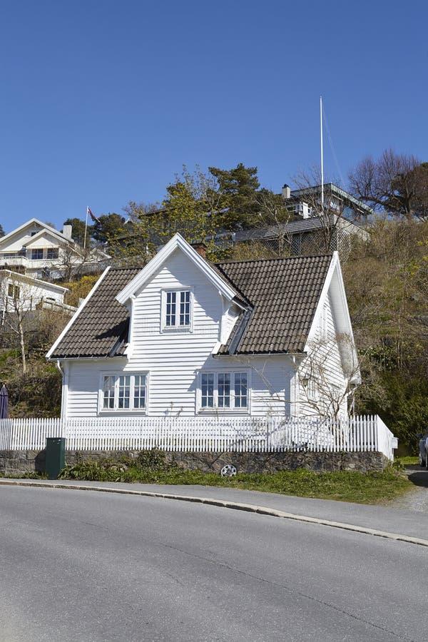 Drobak Akershus, Noruega - casas residenciales imagen de archivo libre de regalías