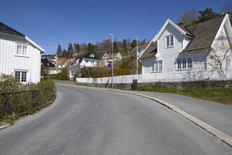Drobak Akershus, Noruega - casas residenciales fotos de archivo