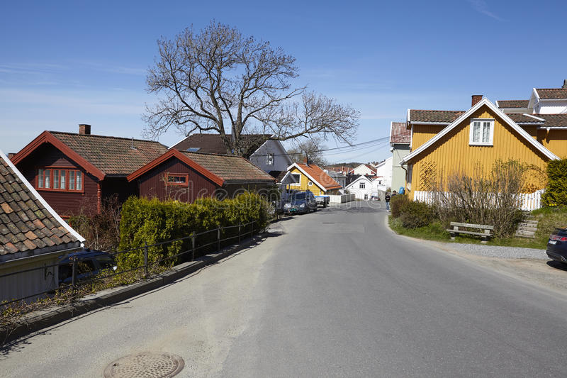 Drobak Noruega, Askershus - calle imagen de archivo libre de regalías