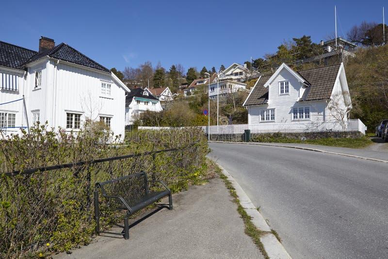 Drobak Noruega, Askershus - calle fotos de archivo libres de regalías