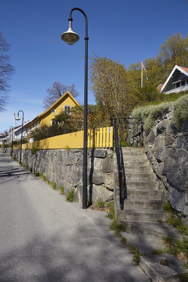 Drobak Noruega, Askershus - linterna fotografía de archivo libre de regalías