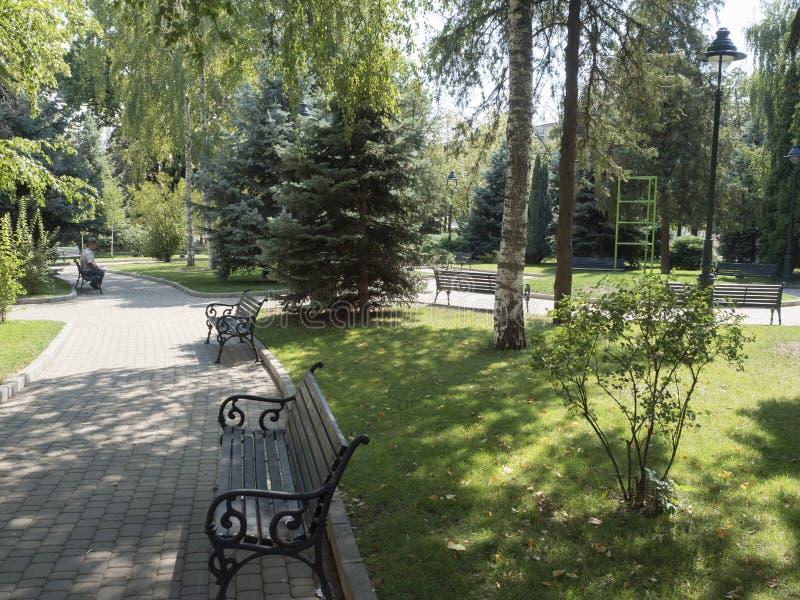 Tudor Vladimirescu Park in Drobeta-Turnu Severin, Romania stock images