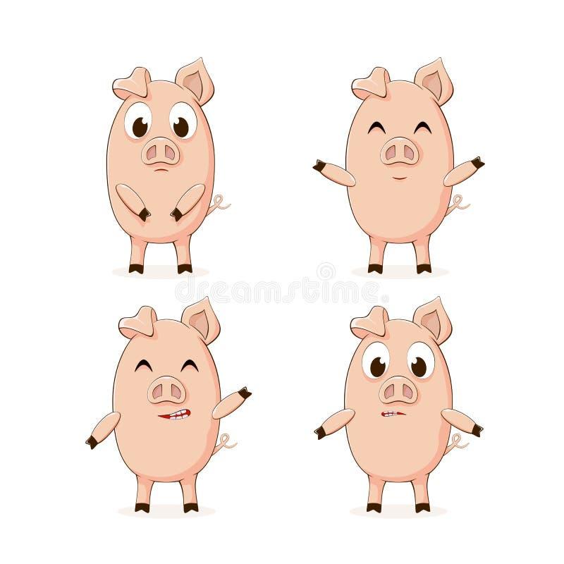 drobne świnie royalty ilustracja