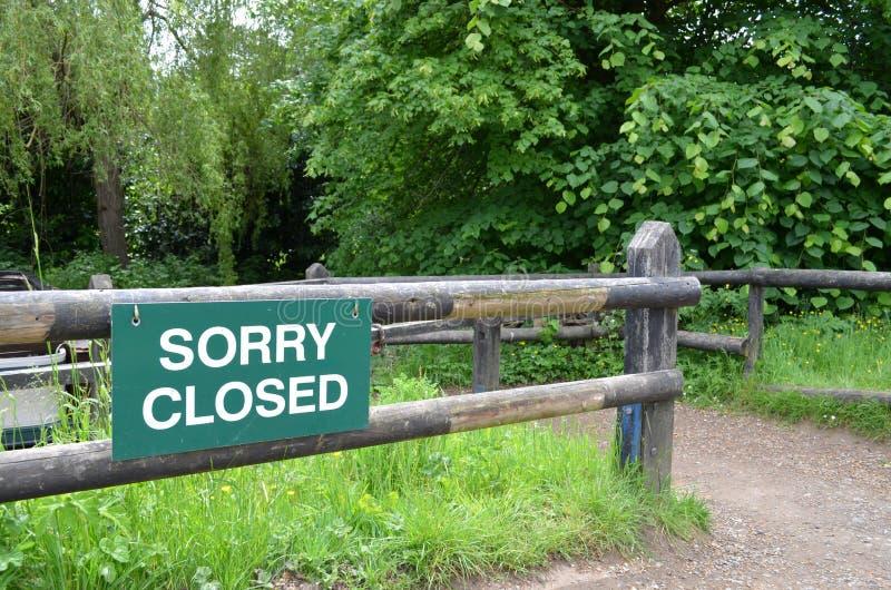 Droevig gesloten teken royalty-vrije stock foto's