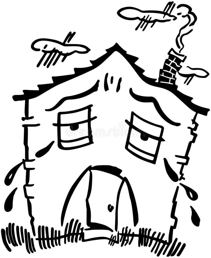 Droevig huis royalty-vrije illustratie