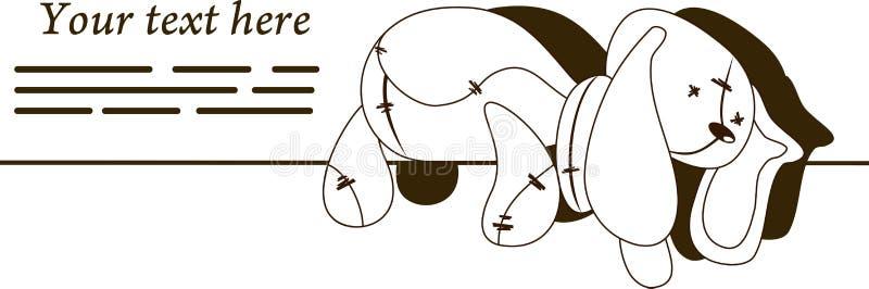 Droevig konijn royalty-vrije stock afbeelding