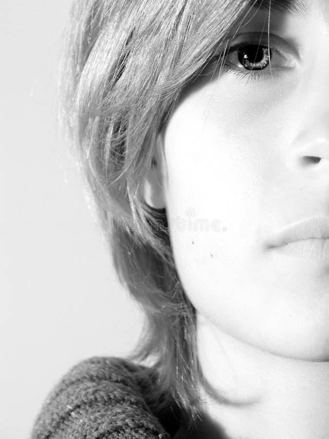 Droevig vrouwelijk gezicht #01 stock afbeeldingen