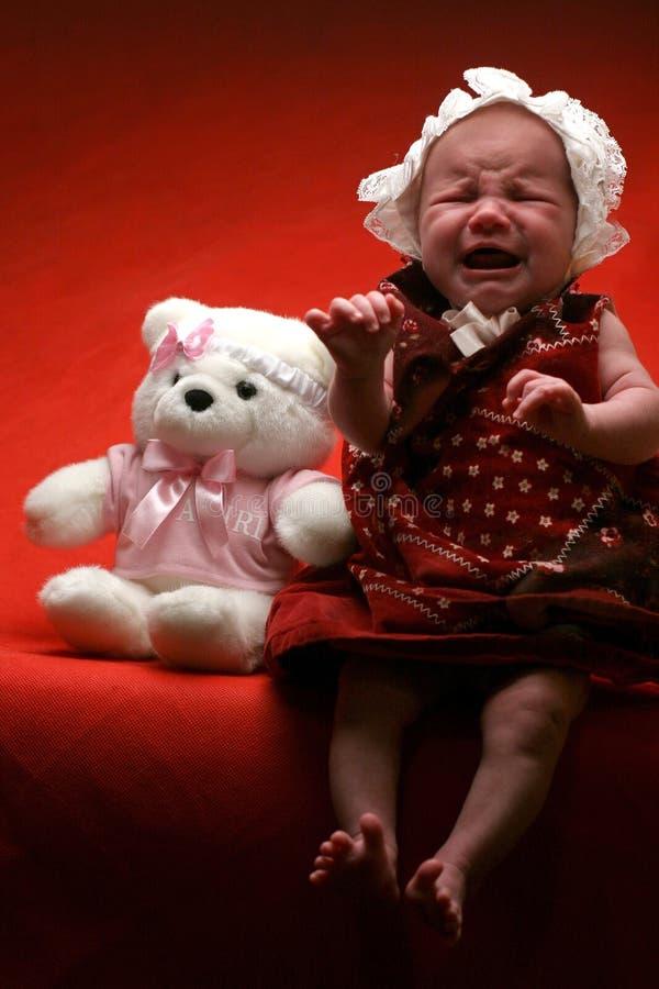 Download Droevige Baby stock afbeelding. Afbeelding bestaande uit zieken - 281599