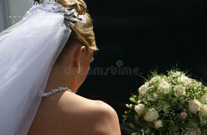 Droevige bruid royalty-vrije stock foto