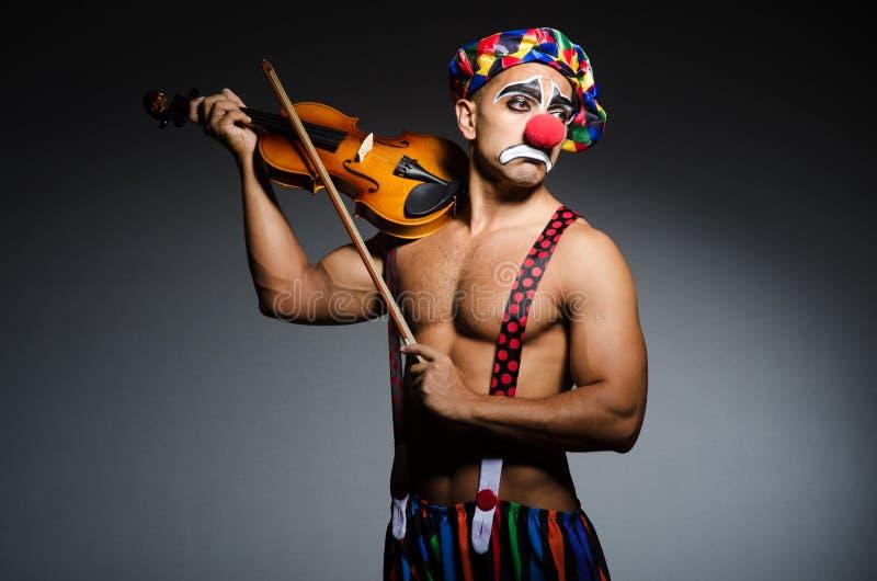 Droevige clown royalty-vrije stock foto