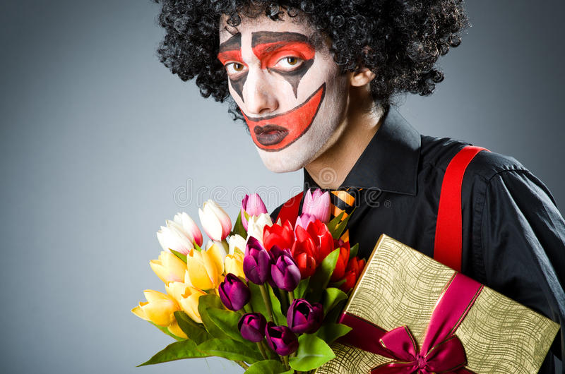 Droevige clown royalty-vrije stock afbeelding