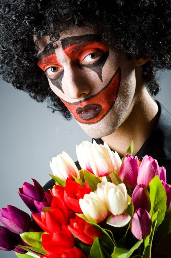 Droevige clown royalty-vrije stock foto's
