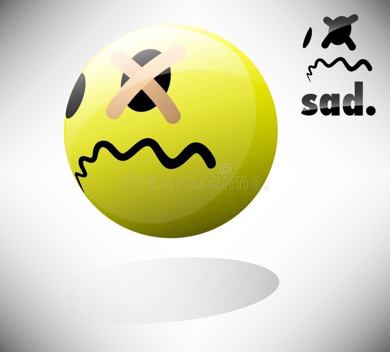 Droevige Emoticon vector illustratie
