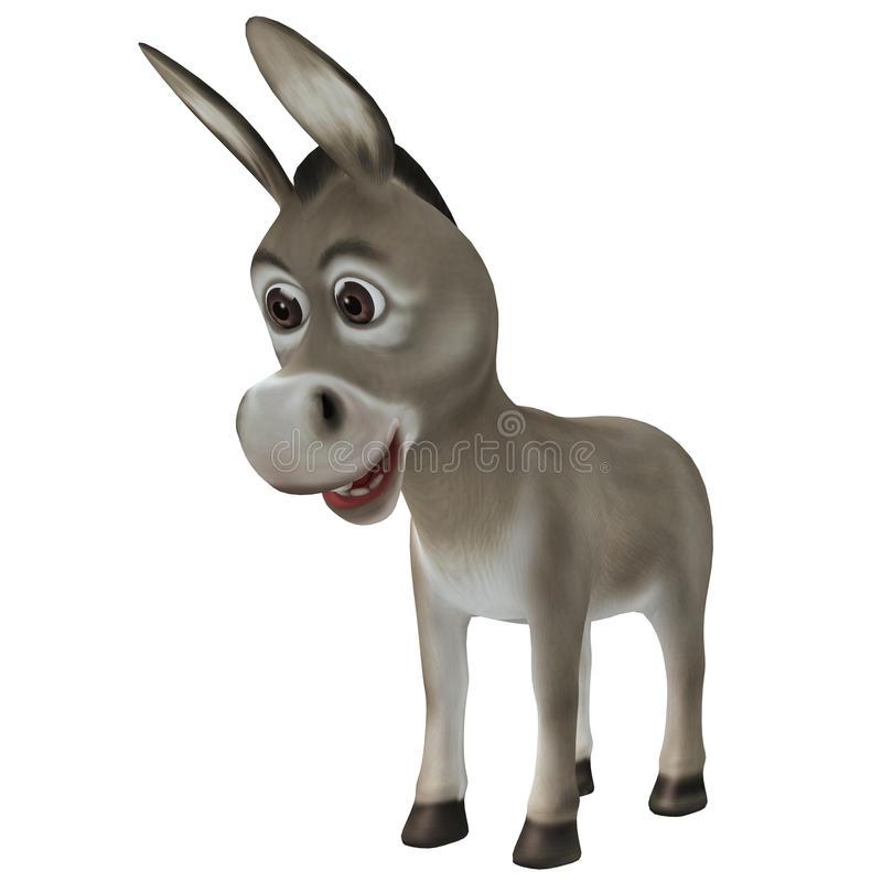 Droevige ezel royalty-vrije illustratie
