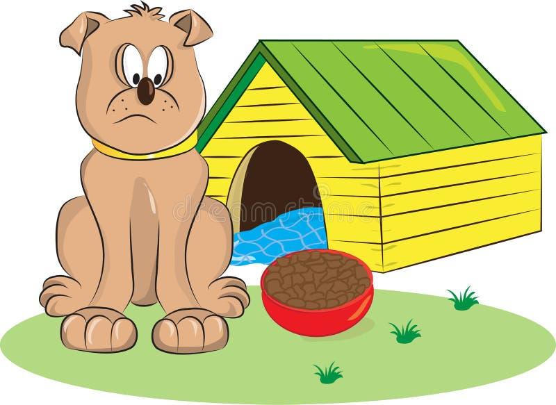 Droevige Hond royalty-vrije illustratie