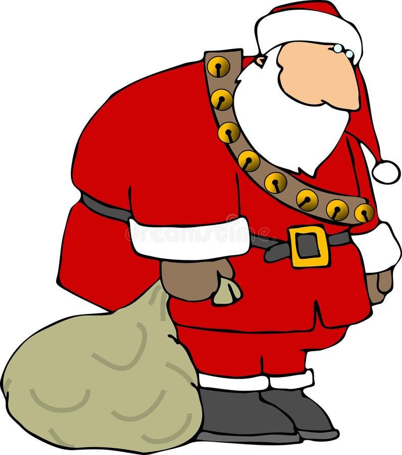 Droevige Kerstman stock illustratie